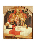 The Miracle of St. Cosmas Giclee Print by Lluis Borrassa