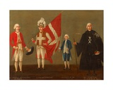 Dignitaries of the Order of St. John with Page of the Victory, C.1789-96 Giclee Print by Antoine de Favray