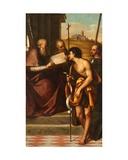 St John the Baptist, St John Chrysostom, St John the Evangelist and St Theodore Giclée-tryk af Sebastiano del Piombo