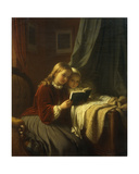 The Bedtime Story, 1867 Giclee Print by Johann Georg Meyer