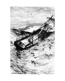 Wreck of the Grampus, Illustration from 'The Narrative of Arthur Gordon Pym of Nantucket' by… Giclee Print by Robert Swain Gifford