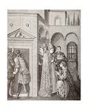 Pope Sixtus II, from 'Military and Religious Life in the Middle Ages' by Paul Lacroix, Published… Giclee Print