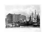 The Duke's Dock and Warehouses, Liverpool, Engraved by Thomas Higham, 1829 Giclee Print by John Harwood