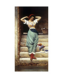 The Washerwoman, 1878 Giclee Print by Eugen Von Blaas