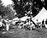 British Indian Army Camp, C.1860s Photographic Print by Willoughby Wallace Hooper