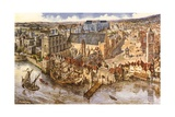 Birdseye View of Westminster Giclee Print by Peter Jackson