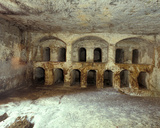Interior of the Sanhedrin Cave Photographic Print