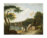 Classical Landscape, Lake Avernus Giclee Print by Richard Wilson