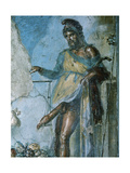 Priapus by Weighing His Penis. Fresco. Pompeii. Italy Giclee Print