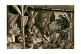 Bomb Shelter During the Blitz Giclee Print by Peter Jackson