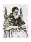 Pope Julius II (1443 1513). Engraving Giclee Print