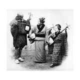 Japanese Musicians, C.1860s Photographic Print by Felice Beato