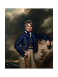 Three-Quarter Length Portrait of John Windham Dalling Rn, as a Midshipman Giclee Print by George Henry Harlow