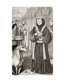 St. Anthony of Padua, from 'Military and Religious Life in the Middle Ages' by Paul Lacroix,… Giclee Print