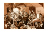 Workmen's Cafe During Ww2 Giclee Print by Peter Jackson