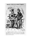 England's Prince and Ireland's Emperor, Illustration from 'Puck Magazine', 1885 Giclee Print by Frederick Burr Opper