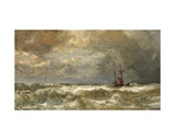 Rough Sea Giclee Print by Paul Jean Clays