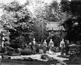 Japanese Garden at Hara, C.1860s Photographic Print by Felice Beato