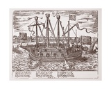 Fin De La Guerre', Warship Built for the United Provinces, 1585 Giclee Print by Franz Hogenberg