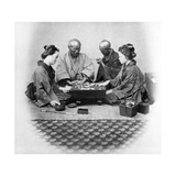Playing Go, C.1860s Photographic Print by Felice Beato