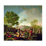 Meal on the Banks of the River Manzanares, 1776 Giclee Print by Francisco de Goya