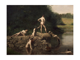 Swimming Hole, 1885 Giclee Print by Thomas Cowperthwait Eakins