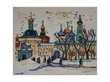 Monastery in Moscow, 1960s Giclee Print by Natalia Aleksandrovna Gippius