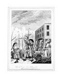 A Cornish Hug in Billingsgate, 1781 Giclee Print by John Nixon