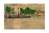 Cadogan Pier Chelsea Giclee Print by Walter Greaves