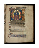 Ms 322 F.113R Psalm 109, Initial D, the Holy Trinity, Illustration from the 'De Brailes Psalter',… Giclee Print by William de Brailes