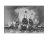 Defeat of the Dutch Fleet by Admiral Blane, Engraved by W. French Giclee Print by John the Younger Cleveley