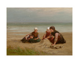 The Shell-Gatherers Giclee Print by Edith Hume