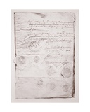 Marriage Contract of Charles I Giclee Print