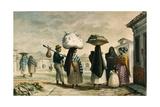 Native Women from Wild Country Seeking Work as Laundresses in Rio De Janeiro Reproduction procédé giclée par Jean Baptiste Debret