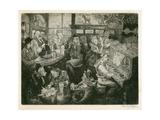 London Ww2 Pub Scene Giclee Print by Peter Jackson