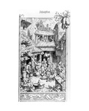 German Schlachtfest, Engraved by Adrian Ludwig Richter, 1861 Giclee Print by August Gaber