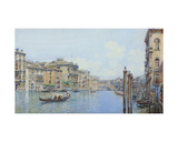 The Grand Canal with a View of Palace Papadopoli before the Rialto Bridge Giclee Print by Gino de Colle