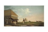 Gimcrack on Newmarket Heath with a Trainer, a Jockey and a Stable Lad Giclee Print by George Stubbs