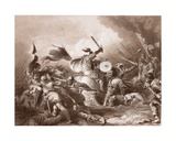 The Battle of Hastings, Engraved by A.H. Payne Giclee Print by Philippe De Loutherbourg