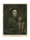 Self-Portrait of William Hogarth Giclee Print by William Hogarth