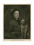 Self-Portrait of William Hogarth Giclee Print by William Hogarth