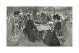 Afternoon Tea in Kensington Gardens Giclee Print by William Hatherell