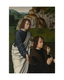 Detail of the Left Panel of the Baptism of Christ, C.1502-08 Giclee Print by Gerard David