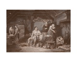 Alfred in the Neatherd's Cottage, Engraved by A.H. Payne Giclee Print by Sir David Wilkie