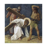 Jesus Falls the First Time (3rd Station of the Cross) 1898 Giclee Print by Martin Feuerstein
