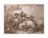 Unknown Battle Scene, Engraved by A.H. Payne Giclee Print by Philippe De Loutherbourg