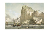 Gibraltar from the Anchorage. Litography Giclee Print