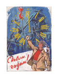 Happy New Year !, C.1960s Giclee Print by Vadim Petrovich Volikov