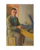 Man with Grammophone, 1930s Giclee Print by Natalia Aleksandrovna Gippius