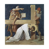 Jesus Falls the Second Time (7th Station of the Cross) 1898 Giclee Print by Martin Feuerstein